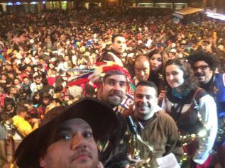 Noche Bruja desde el escenario - Carnaval 2017